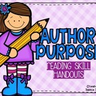 Author&#039;s Purpose - Handouts