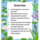 Author's Purpose Literacy Center Sort - Frog Theme