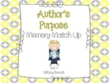 Author's Purpose Memory Match Up