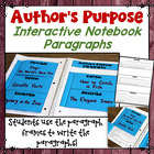 Author's Purpose Mini Booklets (PIE or PIE'ED)  Includes p