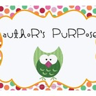 Author's Purpose {Minilessons, Sort, and Quiz}