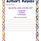 Author's Purpose PIE Graphic Organizer