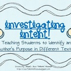 Author's Purpose Pack- Investigating Intent!