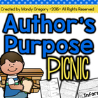 Author&#039;s Purpose Picnic: Centers and Independent Practice