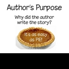 Author&#039;s Purpose- Pie Posters