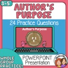 Author&#039;s Purpose PowerPoint: 24 Animated Paragraph Slides