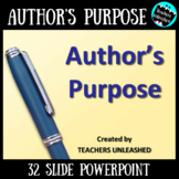 Author's Purpose PowerPoint Lesson and Test Prep