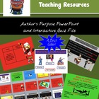 Author&#039;s Purpose Powerpoint Lesson