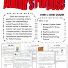 Author&#039;s Purpose Practice Sheets