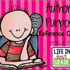 Author's Purpose Reference Cards