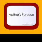 Author's Purpose Smartboard Lesson