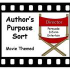 Author's Purpose Sort - Movie Theme