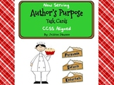 Author's Purpose Task Cards CCSS Aligned