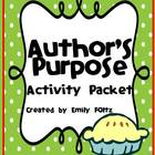 Author's Purpose Unit and Bulletin Board - FUN STUFF