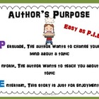 Author&#039;s Purpose for Elementary Students: Easy as Pie