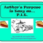 Author's Purpose is Easy as...P.I.E.