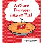 Authors&#039; Purposes...Easy as PIE!