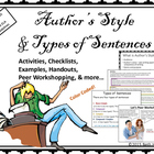 Authors&#039; Styles and Types of Sentences: A Workshopping Approach