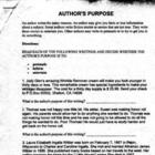 Author's purpose quiz worksheet