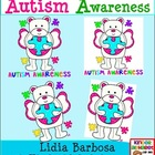 Autism Awareness Angel Bear {Clip Art for Teachers}
