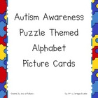 Autism Awareness Puzzle Themed Alphabet Cards