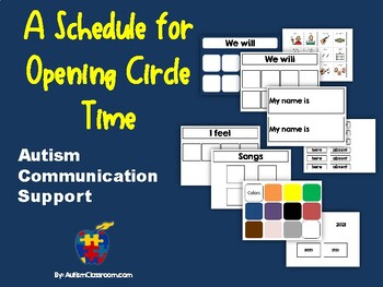 Autism Communication Support Opening Circle Board