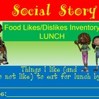 Autism Social Story for Food Likes/Dislikes Special Needs