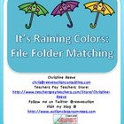 Autism / Special Education Color Matching Folder Game : It