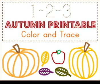 Autumn 123 Preschool Printable
