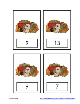 "Autumn Animals ""Subtraction to 20"" Math Center"