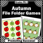 File Folder Games Autumn Back to School Special Education Autism