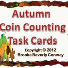 Autumn Coin Counting Task Cards
