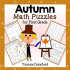 Autumn Common Core Math Puzzles - 1st Grade