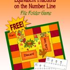 Autumn Equivalent Fractions File Folder Game