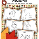 Autumn / Fall Sight Word Cut & Paste Readers