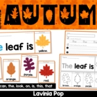 Autumn / Fall Sight Word Flip Books