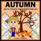 Autumn Fun Quick Common Core (6th grade)