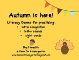 Autumn Is Here: Literacy Games Pack