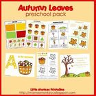 Autumn Leaves Preschool Pack