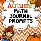 Autumn Math Journal Prompts