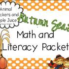 Autumn Math and Literacy Packet