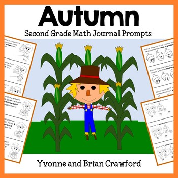 Autumn Mathbooking - Math Journal Prompts (1st and 2nd grade)