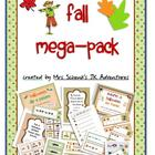 Autumn Mega Pack Literacy and Math Activities