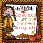 Autumn Sentences Turn to Color-Fall Paragraphs