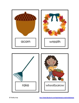 "Autumn ""Syllable Sort"" Literacy Center"