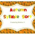 Autumn Syllable Sort