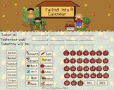 Autumn Theme Math Calendar for the Smart Board