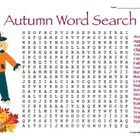 Autumn Word Search Freebie