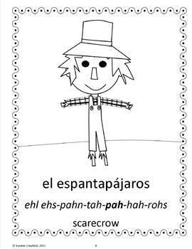 Autumn in Spanish - vocab. sheets, worksheets, matching &
