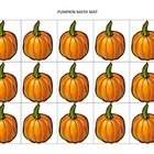 Autumn-themed math mats for preschool and K/1st grade